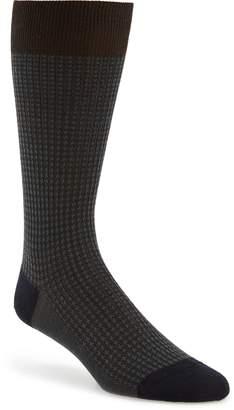 Pantherella Houndstooth Wool Blend Socks