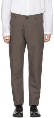 Isabel Benenato Brown Five-Pocket Trousers