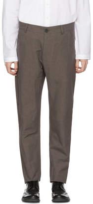 Isabel Benenato Brown Five-Pocket Trousers