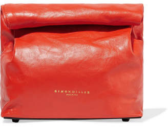 Simon Miller Lunchbag 20 Leather Clutch - Red