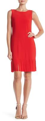 Bebe Fringe Hem Solid Dress