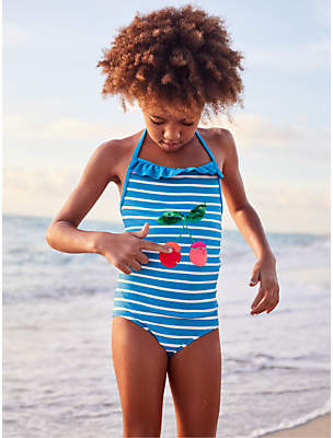 Boden Mini Girls' Colour Changing Sequin Swimsuit, Blue