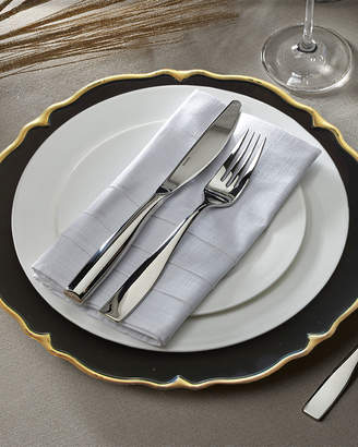 Jay Import Co Elle Black/Gold Scalloped Chargers, Set of 4