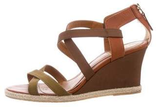 Fendi Crossover Wedge Sandals