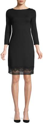 French Connection Lace Jersey Sheath Dress