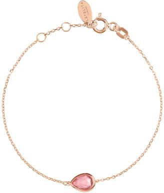 Rosegold Latelita - Pisa Mini Teardrop Bracelet Pink Tourmaline