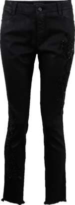 Ermanno Scervino Skinny Coated Beaded Jean