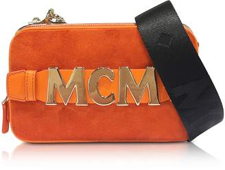 MCM Suede Cubism Mini Crossbody Bag
