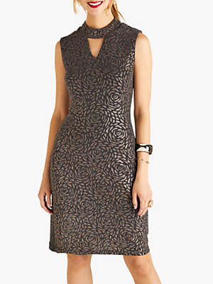 Yumi Lurex Bodycon Dress, Gold