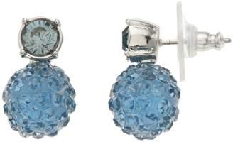 Vera Wang Simply Vera Blue Simulated Crystal Fireball Stud Earrings