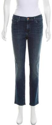 J Brand Mid-Rise Straight-Leg Jeans w/ Tags