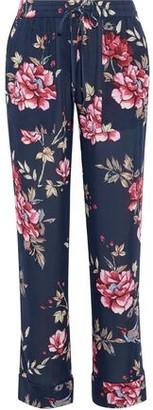 Joie Daltona Floral-Print Silk Wide-Leg Pants