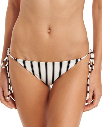 Tori Praver Swimwear Sunday Stripes Allegra Tie-Side Swim Bottom $106 thestylecure.com