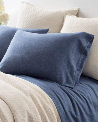 Pine Cone Hill Chambray Flannel Queen Sheet Set, Blue