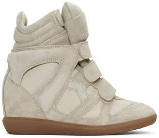 Primury Ecru Suede Beckett Wedge Sneakers vGZzpKh3j9