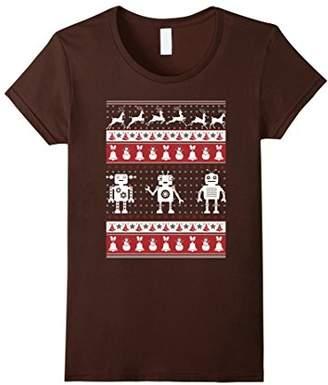 Robots Ugly Christmas Sweater Xmas T Shirts