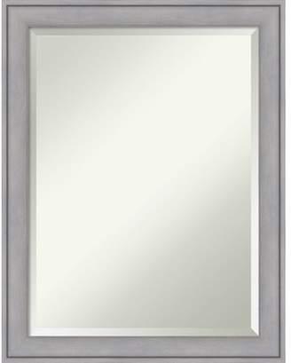 Amanti Art Bathroom Mirror, Graywash - Silver