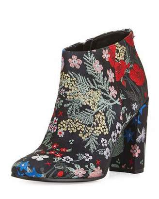 Sam Edelman Cambell Floral Ankle Boot, Gray/Multi $160 thestylecure.com