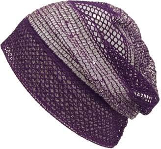 BEIGE Casualbox Womens Mesh Beanie Hat Loose Knit Cooling Summer Ladies Hat
