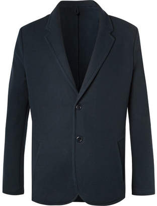Hamilton and Hare Navy Textured Cotton-Blend Suit Jacket
