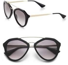 Prada 54MM Mirrored Aviator Sunglasses