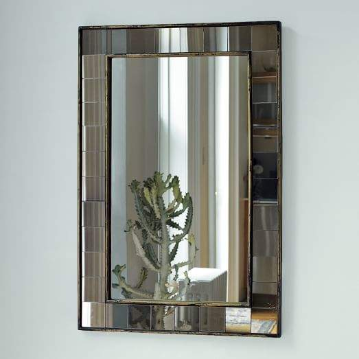 Antique Tiled Wall Mirror
