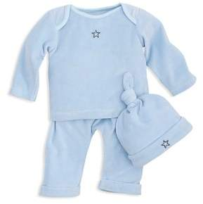 Elegant Baby Boys' Velour Long-Sleeve Top, Pull-On Pants & Hat Set - Baby