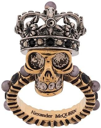 Alexander McQueen King Skull ring
