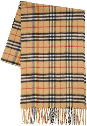 Burberry Rainbow Vintage Icon Check Scarf