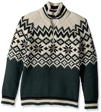French Connection Men's Ski Fairisle Half Zip Sweater
