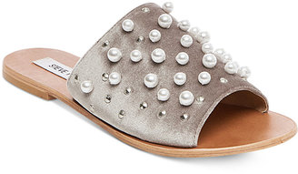 Steve Madden Women's Denise Embellished Slide Sandals $79 thestylecure.com