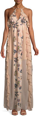 The Jetset Diaries Azalea Ruffle-Trimmed Maxi Dress