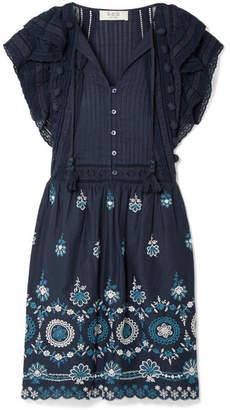 Sea Sofie Broderie Anglaise Cotton Mini Dress - Blue