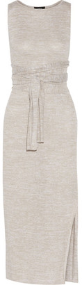 Theory - Dantine Linen-blend Midi Dress - Beige $395 thestylecure.com