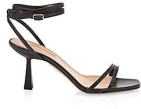 Aquazzura Women's Isabel Square-Toe Leather Sandals