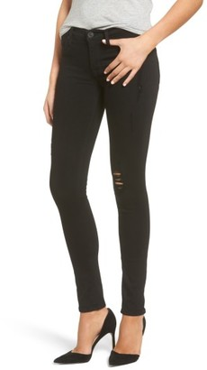 Women's Hudson Jeans Krista Distressed Super Skinny Jeans $185 thestylecure.com