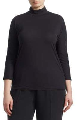 Marina Rinaldi Marina Rinaldi, Plus Size Fine Jersey Turtleneck Top