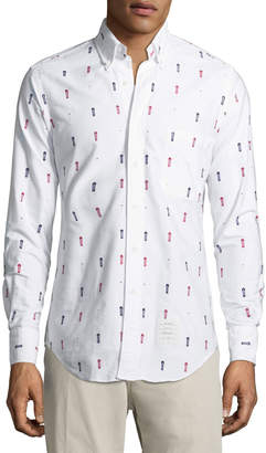 Thom Browne Dotted Cotton Oxford Shirt