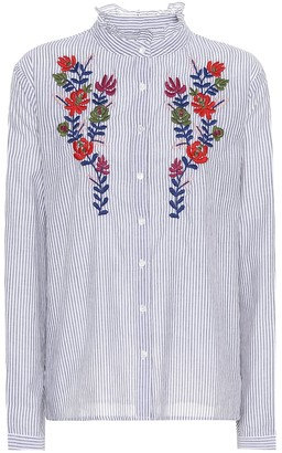 Velvet Kaidy embroidered cotton shirt