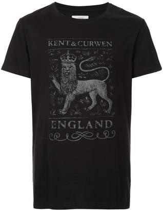Kent & Curwen English lion motif T-shirt