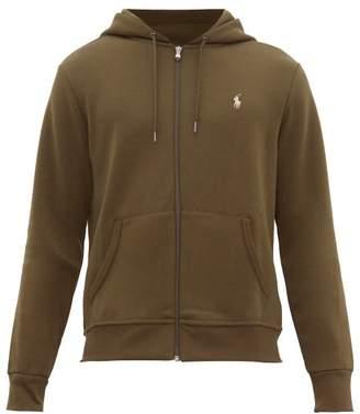 Polo Ralph Lauren Logo Embroidered Zip Through Hooded Sweatshirt - Mens - Khaki