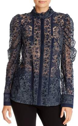 Kobi Halperin Genna Striped Lace Blouse
