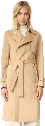 Theory Oaklane Double Faced Wool Coat $795 thestylecure.com