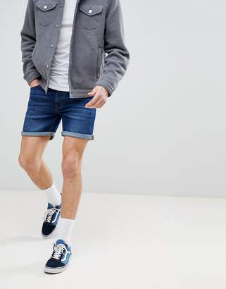 Dr. Denim Trench Shaded Dark Blue Shorts