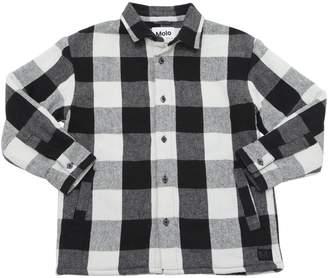 Molo Check Cotton Flannel Shirt Jacket