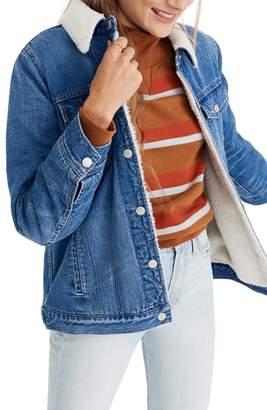 Madewell Oversize Faux Fur Jean Jacket