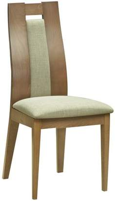 Titanic Furnture Wooden Dining Chairs With Upholstered Back And Seat Honey, Set of 2