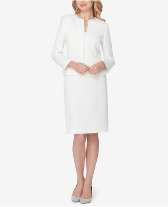 Tahari ASL Embellished Skirt Suit $320 thestylecure.com