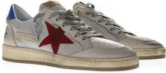 Golden Goose Ballstar White Mesh & Leather Vintage Sneakers