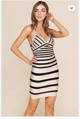Ariella Gold Bandage Dress
